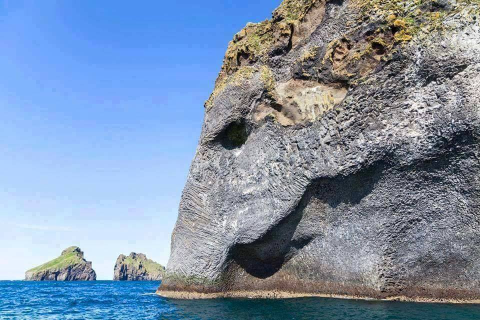 Amazing Nature - Naturally Erupted Elephant Rock in Iceland