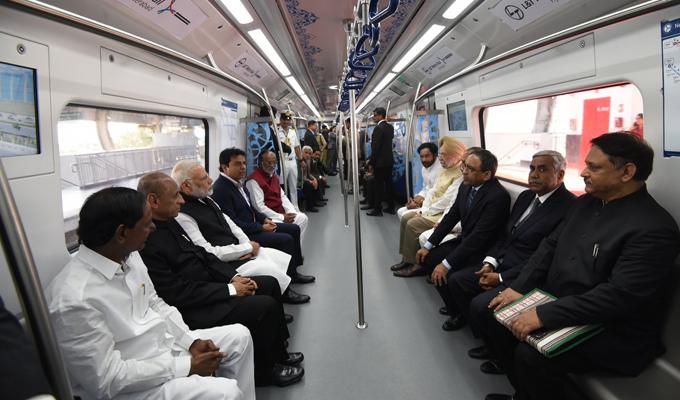 PM Modi Launches Hyderabad Metro