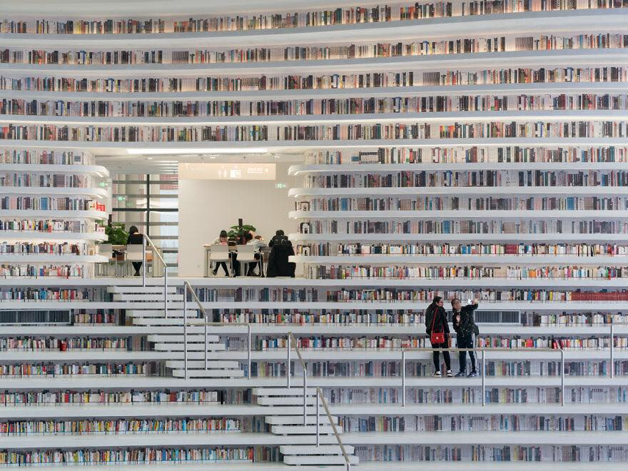 China Opened The World's Coolest Library With 1.2 Million Books, and It's Interior Will Take Your Breath Away!