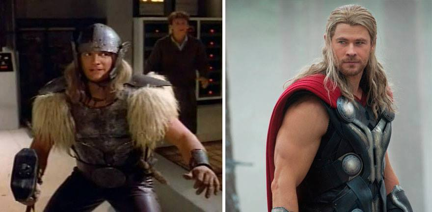 Super Heroes Then and Now (25 Pics)