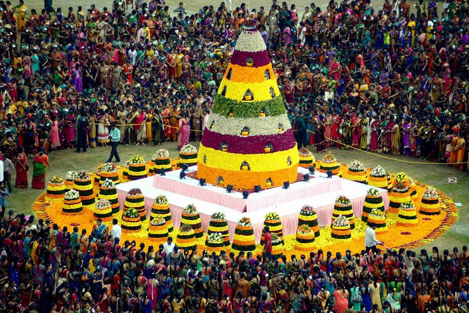 BATHUKAMMA Guinness World Record Event (30+ Pics)