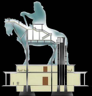 The Genghis Khan Equestrian Statue in Ulaanbataar, Mongolia