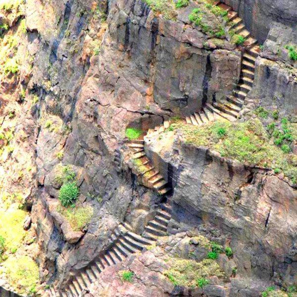 Breathtaking Harihar Fort Trek, Nashik, Maharashtra, India