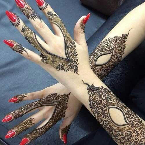 20 Beautful Henna Designs For Nikah: 35 Beautiful Mehndi Designs (Henna Hand Art