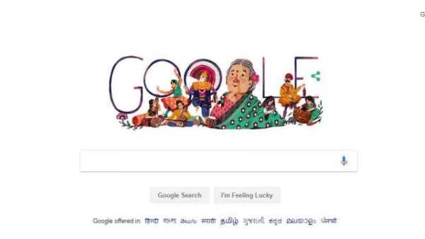 Google Doodle: Kamaladevi Chattopadhyay's 115th Birth Anniversary
