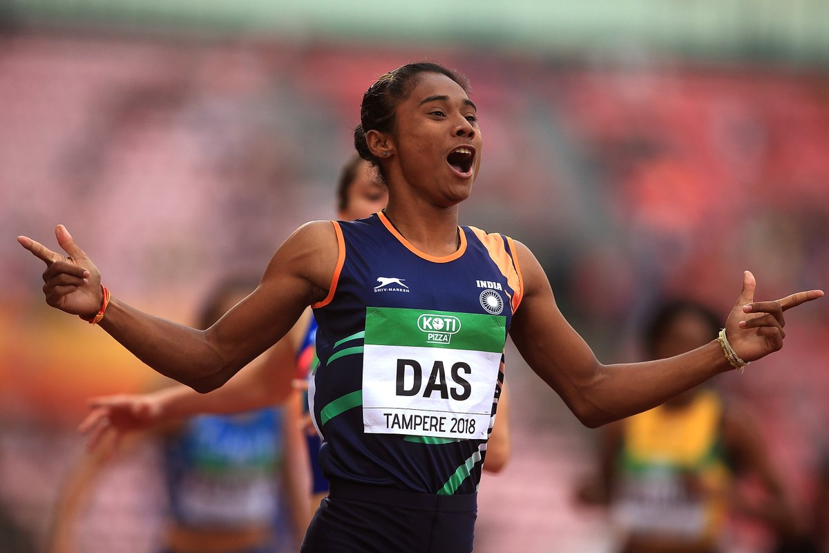 Hima Das Becomes First Indian Woman To Win GOLD at Athletics Junior World Championships