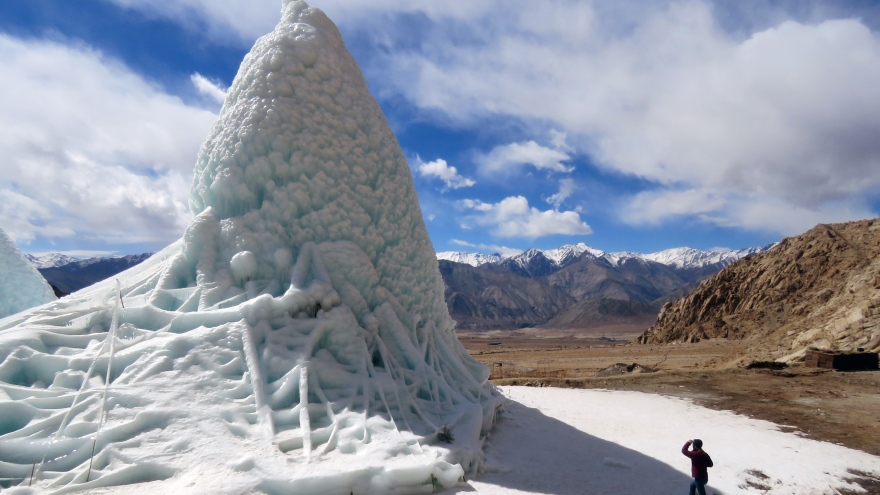 Ladakh's Ice Stupa Project in the Himalayan Desert