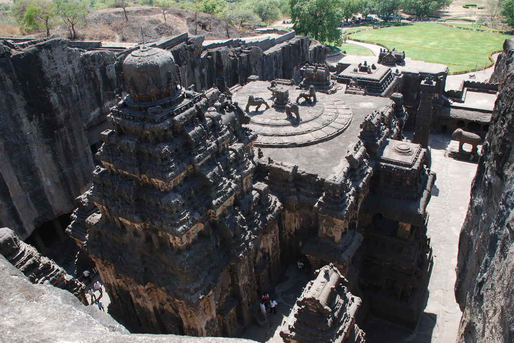 Kailasa Temple - 8th Century Largest Single Rock Cut Temple In The World