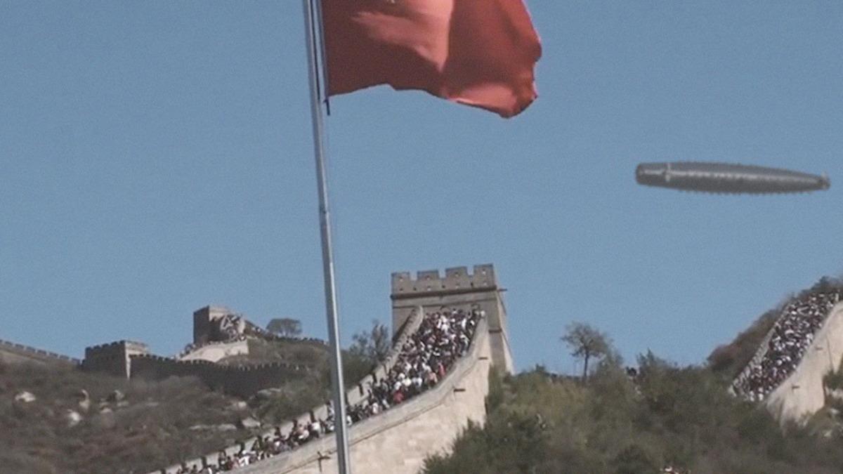 UFO sighting at Great Wall of China