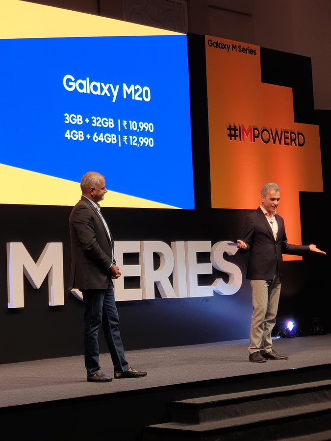 Samsung M Series Galaxy M20, Galaxy M10 Launched: Price and Specifications