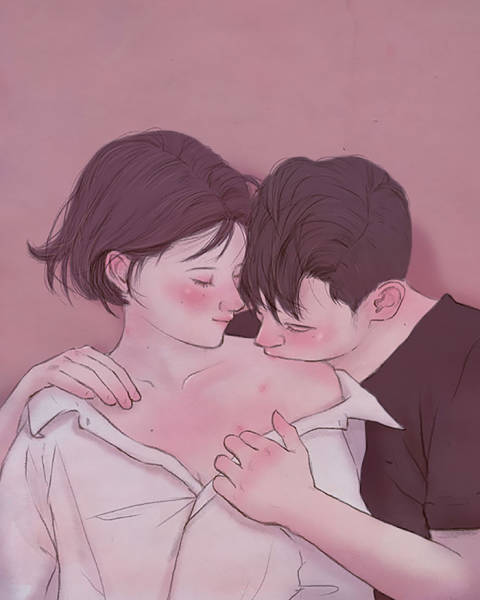This Korean Illustrator Manages To Capture The Very Essence Of Romance! (33 pics)